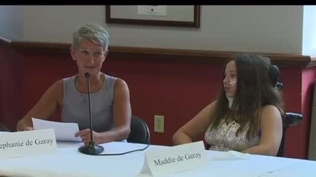 Press Conference For 12 Year Old In Wheelchair from Fake Vaccine