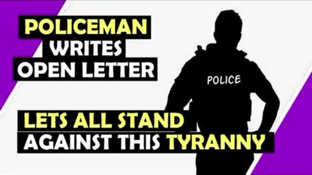 Police officer writes open letter: let's stand up to tyranny
